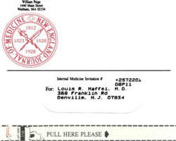 New England Journal of Medicine - Envelope